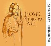 come follow me jesus christ...   Shutterstock .eps vector #1951275160