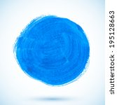 blue isolated acrylic painted... | Shutterstock . vector #195128663