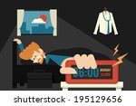 lazy monday. | Shutterstock .eps vector #195129656