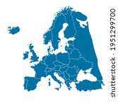map of europe. color vector... | Shutterstock .eps vector #1951299700