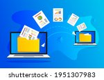 transferring a file from one... | Shutterstock .eps vector #1951307983