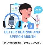 better hearing and speech month ...   Shutterstock .eps vector #1951329250
