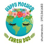 happy mother earth day   ... | Shutterstock .eps vector #1951361683