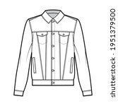 standard denim jacket technical ...   Shutterstock .eps vector #1951379500
