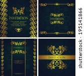 set of elegant invitations. can ... | Shutterstock .eps vector #195141866