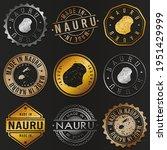 nauru business metal stamps.... | Shutterstock .eps vector #1951429999