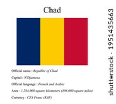 chad national flag  country's...   Shutterstock .eps vector #1951435663