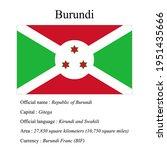 burundi national flag  country...   Shutterstock .eps vector #1951435666