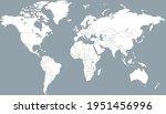 world map. color vector modern. ... | Shutterstock .eps vector #1951456996