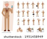 set of old businessman...   Shutterstock .eps vector #1951458949