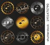 fiji business metal stamps.... | Shutterstock .eps vector #1951470790