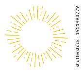 sunburst or starburst cirlce...   Shutterstock .eps vector #1951493779