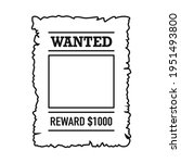 template of wanted poster with...   Shutterstock .eps vector #1951493800