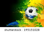 illustration of soccer ball in... | Shutterstock .eps vector #195151028