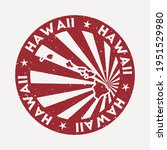 hawaii stamp. travel red rubber ... | Shutterstock .eps vector #1951529980