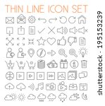 collection of thin line modern...