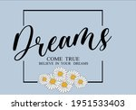 dreams come true message with... | Shutterstock .eps vector #1951533403