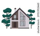 modern country house. cottage   ...   Shutterstock .eps vector #1951552660