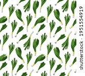seamless pattern with green... | Shutterstock .eps vector #1951554919