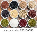 multicolored beans in ceramics...   Shutterstock . vector #195156533