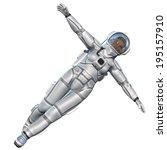 beauty astronaut | Shutterstock . vector #195157910