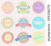 vector bakery badges and labels | Shutterstock .eps vector #195158270