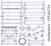 vintage hand drawn design... | Shutterstock .eps vector #195161714