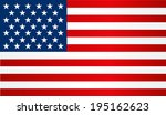 flag of usa. vector | Shutterstock .eps vector #195162623