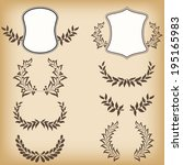 set floral frames. vector... | Shutterstock .eps vector #195165983