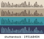 big city  architecture ... | Shutterstock .eps vector #195168404