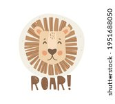 hand drawn lion portrait.... | Shutterstock .eps vector #1951688050