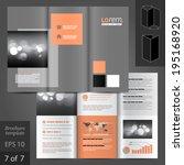 classic vector brochure... | Shutterstock .eps vector #195168920