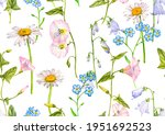 watercolor drawing seamless... | Shutterstock . vector #1951692523