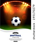 glowing football background... | Shutterstock .eps vector #195170279