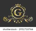 golden stylized letter g of the ...   Shutterstock .eps vector #1951710766