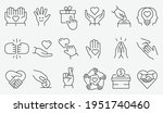 charity icon set. collection of ... | Shutterstock .eps vector #1951740460