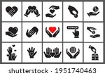 charity icon set. collection of ... | Shutterstock .eps vector #1951740463