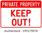 Private Property Sign In Vector
