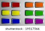 vector  various glossy buttons... | Shutterstock .eps vector #19517566
