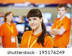 positive team of shop... | Shutterstock . vector #195176249