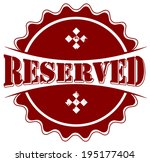 reserved grunge stamp with on... | Shutterstock .eps vector #195177404
