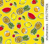 seamless pattern with summer... | Shutterstock .eps vector #1951779526