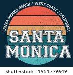 vintage santa monica beach west ...   Shutterstock .eps vector #1951779649