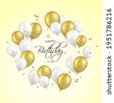 happy birthday greeting card... | Shutterstock .eps vector #1951786216