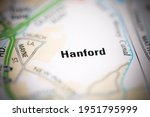 Hanford on a geographical map of UK