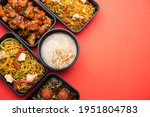 group of home delivered indo...