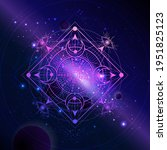 geometric symbol against the... | Shutterstock .eps vector #1951825123