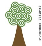a tree made of green concentric ... | Shutterstock . vector #19518469