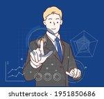 big data statistics and... | Shutterstock .eps vector #1951850686