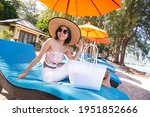 Smiling Woman Wearing A Hat And ...